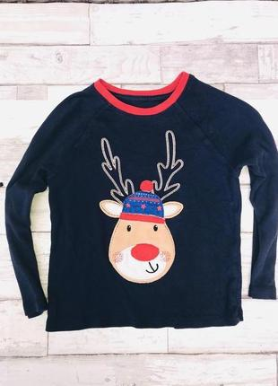 Лонгслив, новогодний свитер