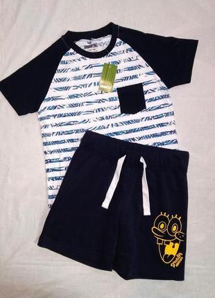 Летний костюм, комплек, шорты, футболка на мальчика 134-140 см. pepperts