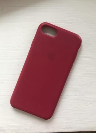 Чехол iphone 8/7 красный розовый фуксия