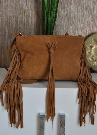 Кожаная сумка кроссбоди miss selfridge / шкіряна сумка