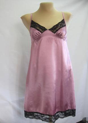 Сорочка-комбинация лиловая атласная 996440d94157e