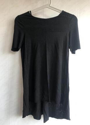 Черная футболка блузка cos лиосел летняя легкая размер xs