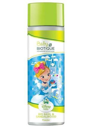 Тальк biotique  bio basil & sandalwood mickey powder  детская успокаивающая 150 гр