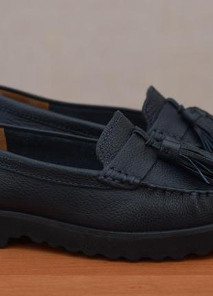 Синие кожаные мокасины, балетки, туфли, топсайдеры john lewis, 36 размер. оригинал