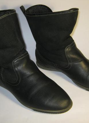 Удобные утепленные демисезонные ботинки сапоги кожа размер 36 ecco