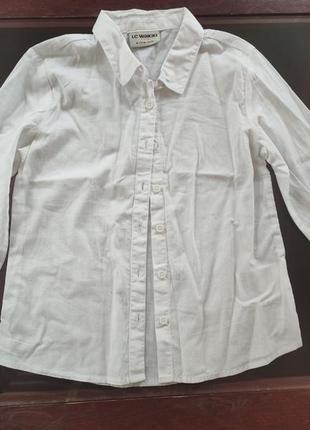 Рубашка блузка вайкики waikiki новая 116-122 6-7 лет школьная форма