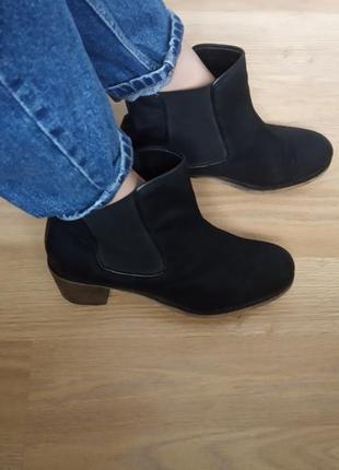 Asos  нубук ботинки челси из нубука 40-41 как козаки казаки