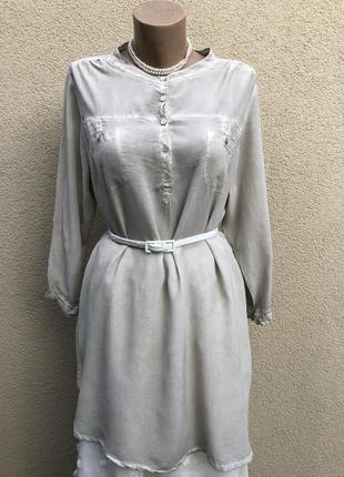 Шелк,серая блуза,рубашка,туника,платье,премиум бренд,