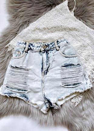 Шорты джинсовые denim размер s