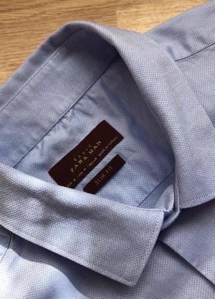 Zara man slim fit рубашка сорочка