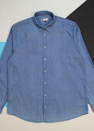 Легкая джинсовая рубашка в классном винтажном цвете от dressmann