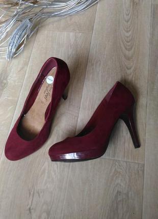 Туфли new look цвета марсала, бордовые, размер  38,5-39