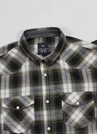 Хорошая повседневная приталенная рубашка на заклепках от we-fashion