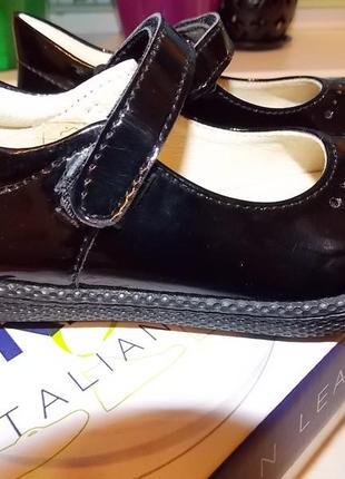 Фирменные кожаные туфли балерины primigi р-р25(15.5см)оригинал.кожа