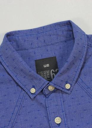 Симпатичная приталенная рубашка в мульти-узор от we