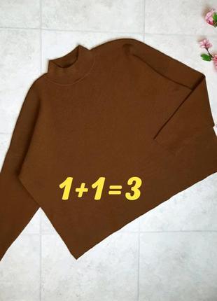 1+1=3 идеальный плотный горчичный свитер под горло оверсайз h&m, размер 48 - 50