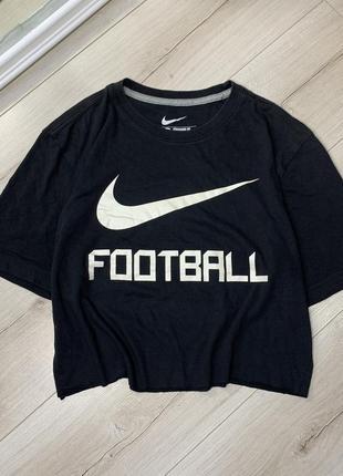 Оригинальная чёрная хлопковая футболка nike