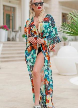 Модная пляжная туника разные расцветки