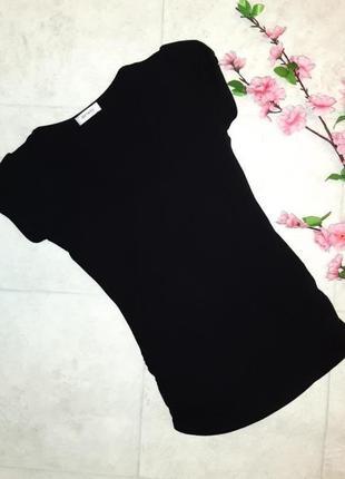 1+1=3 стильная черная трикотажная футболка orsay, размер 42 - 44