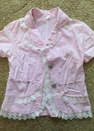 Натуральный летний розовый пиджак