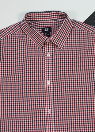 Четкая приталенная клетчатая рубашка от h&m