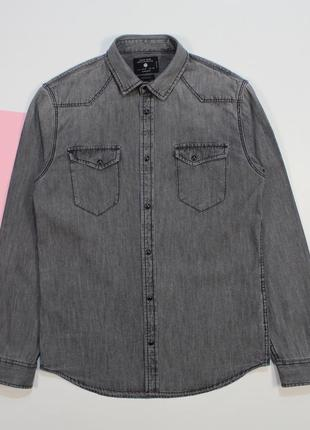 Четкая приталенная джинсовка под винтаж на заклепках от zara man