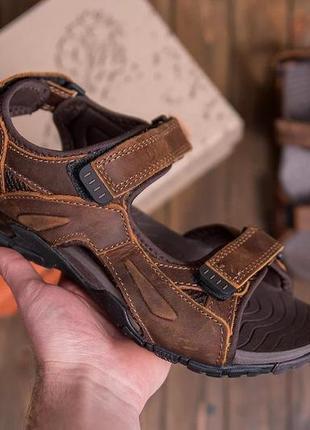 Мужские кожаные сандалии def кор