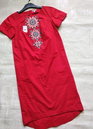 Распродажа. красивое платье -вышиванка, р. s,