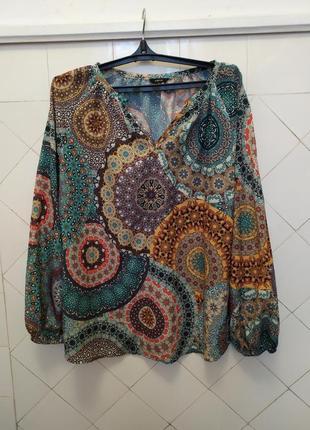 Блуза цветная.батал