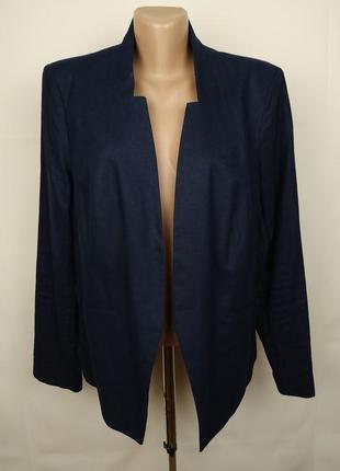 Пиджак новый натуральный льняной большого размера marks&spencer uk 18/46/xxl