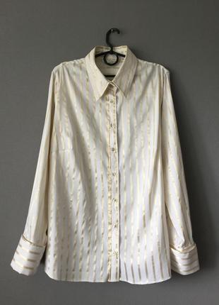 Нарядная рубашка в полоску autograph от marks&spenser 18--54 размер.