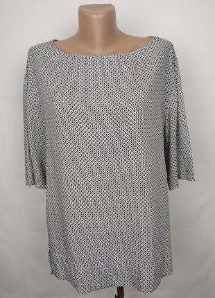 Блуза легкая красивая в прнит оригинал  uk 16/44/xl