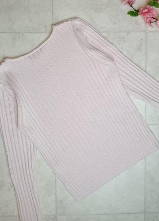 1+1=3 модный нежно-розовый свитер - зефирка джемпер в рубчик betty barclay, размер 46 - 48