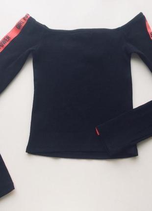 Черная водолазка с открытыми плечами от select, натуральная ткань, размер 40/6/34