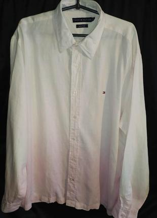Tommy hilfiger рубашка амбре 100% лён 2xl