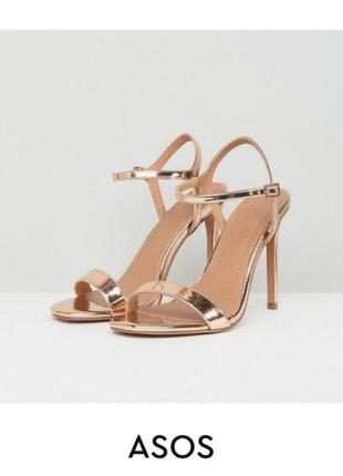 Золотые босоножки на каблуке асос asos2 фото