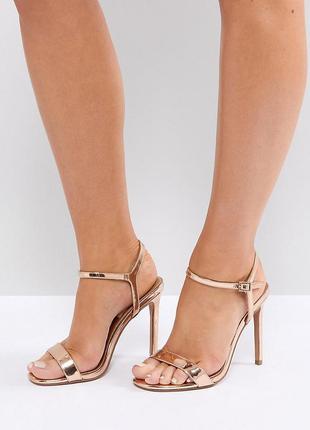 Золотые босоножки на каблуке асос asos1 фото
