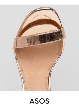 Золотые босоножки на каблуке асос asos3 фото
