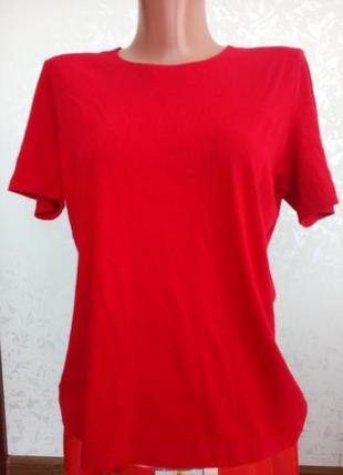 Женская красная футболка marks & spencer