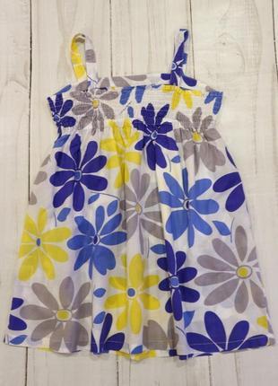 Платье сарафан из 100% хлопка, 7-8 лет3 фото