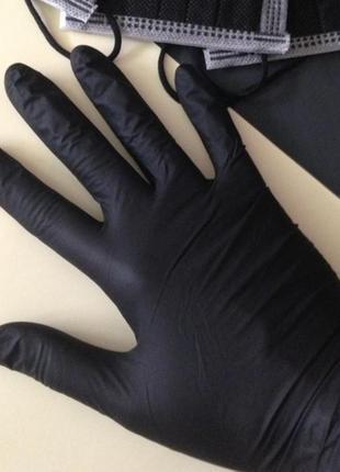 Перчатки нитриловые черные xs