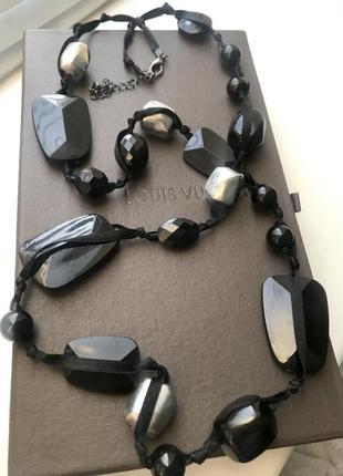Стильное колье ожерелье бусы h&m