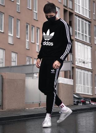 Классический спортивный костюм адидас adidas, отличный вариант на лето (с-хл)