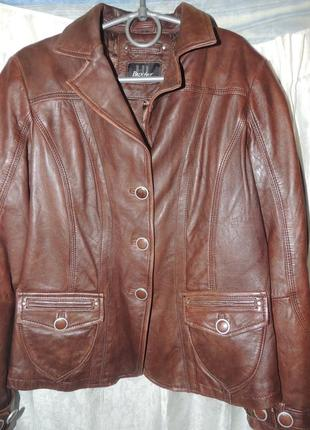 Потрясающая натуральная итальянская кожаная куртка  buxter leather
