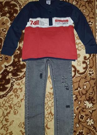 Костюм chicco поло и джинсы
