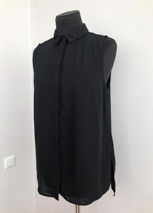 Шифоновая блуза без рукавов 48-50