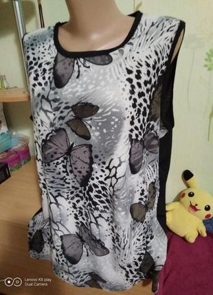Майка блуза на лето-xl-xxl-dmj- в идеале, не ношена.