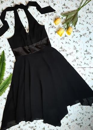 🌿1+1=3 фирменное черное вечернее нарядное платье миди new look, размер 48 - 50