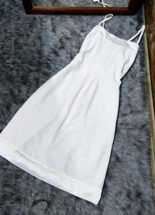 Платье из коттона и льна orsay
