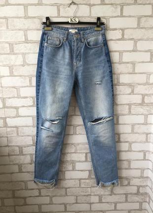 Мом джинсы h&m с высокой талией